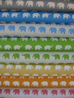 Elephant fabric. This would look so cute as nursery decor!
