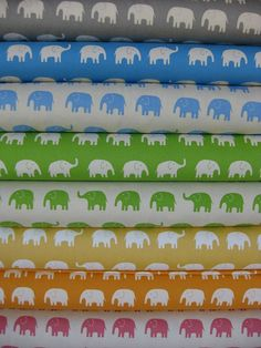 Elephant fabric. This would look so cute as nursery decor!