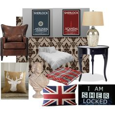 """Sherlock Bedroom"" by susan-savelli on Polyvore"
