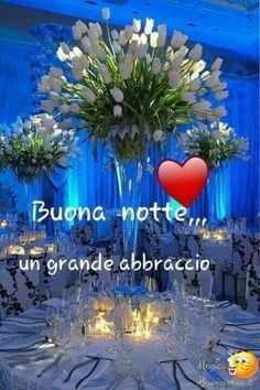 Corazones Gif, Italian Flowers, Beautiful Good Night Images, Italian Quotes, Good Morning Good Night, Love Messages, Sweet Dreams, Neon Signs, Facebook