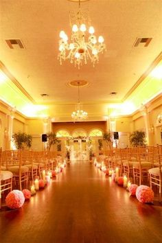 "@NZA I think you should def do candles down the aisle! ""Le Petit Gardenia Weddings Wedding Reception Photos on WeddingWire"""