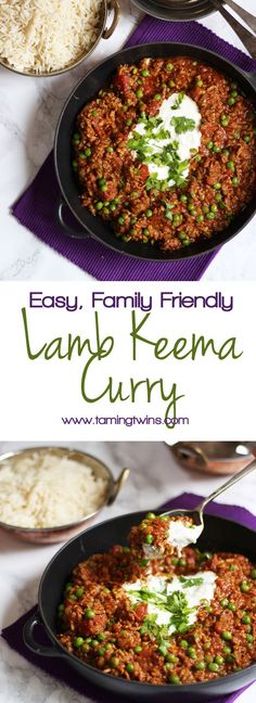 Keema Recipe - How to make Easy Lamb Mince Keema Curry A delicious, quick and easy, family friendly Lamb Keema recipe. Perfect for a midweek dinner, on the table quickly. One of the tastiest and easiest curry recipes you will ever make. Lamb Dishes, Curry Dishes, Mince Dishes, Keema Curry Recipe, Easy Curry Recipe, Recipe Recipe, Lamb Mince Recipes, Mince Meals, Gourmet