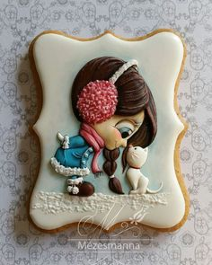 Happen to be in Hungary? Then head to Mézesmanna, a cake-decorating shop that makes what might just be the most amazing cookies you've ever seen Kinds Of Cookies, Fancy Cookies, Cute Cookies, Cupcake Cookies, Cupcakes, Biscotti Cookies, Galletas Cookies, Iced Cookies, Cookies Et Biscuits