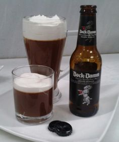 beer: mousse de chocolate con espuma. homeandrun