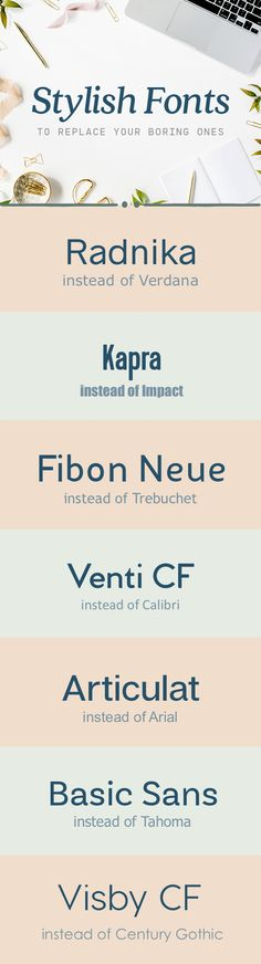 On the Creative Market Blog - Stylish Fonts to Replace All Your Boring Ones
