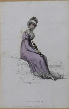 "M5053MA_214X03X00010_L | English, 1814. ""Morning Dress."" Contrast white flounces…"