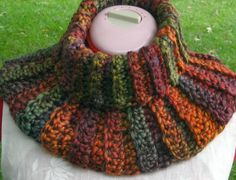 Crocheted Neckwarmer / Collar in Scarlet Orange by CrochetRoanoke