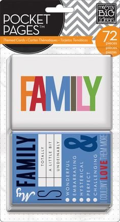 mambi pocket pages Themed Cards -  Family