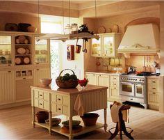 Landhausküche aus lackiertem Holz - Nostalgische Küche