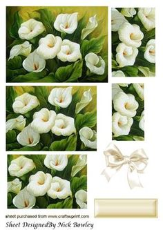 Pretty cream calla lillies pyramids with bow on Craftsuprint - Add To Basket!