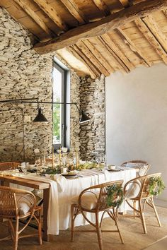 〚 Very beautiful mountain home made of wood and stone in Spain 〛 ◾ Photos ◾ Ideas ◾ Design #Rustic #diningroom #table #interiordesign #homedecor #ideas #inspiration #cozy #Living #space #style #interior #decor #home #design #stone Architecture Design, Spanish Interior, Glass Partition, Rustic Cottage, Made Of Wood, Rustic Charm, Decoration, Modern Decor, Interior Design