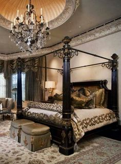 Old world bedroom design ideas inviting old world style bedrooms dream house bedroom master bedroom and Romantic Master Bedroom, Master Bedroom Design, Beautiful Bedrooms, Dream Bedroom, Master Bedrooms, Bedroom Designs, White Bedrooms, Master Suite, Old World Bedroom