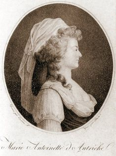 An engraving of Marie Antoinette as a peasant; she often dressed as one with her friends at her Hameau, imitating the simple life.