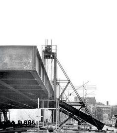 Construcción de la Neuegallery de Mies, Berlín