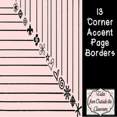 Page borders with corner accents