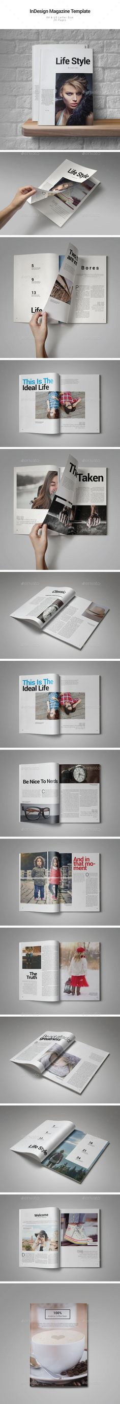 Life Style Magazine Template by Luckascode Life Style Magazine is a professional and clean InDesign magazine template that can be used for any type of industry. This item co