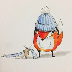 Yuuuup! It's officially hat and scarf season! #illustration…