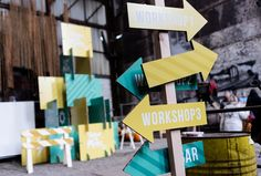 Woody, Event Design, Signage, Atlanta, Palette, Scene, Homemade, Projects, Inspiration