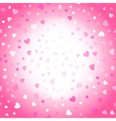 Valentines background pink and white hearts vector