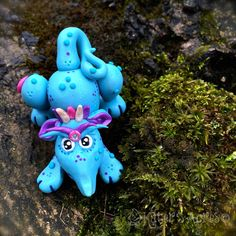 Polymer Clay Dragon 'Pupplett' - Limited Edition Handmade Collectible by KatersAcres on Etsy
