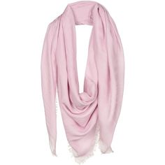 Versace Square Scarf ($240) ❤ liked on Polyvore featuring accessories, scarves, pink, square shawl, fringe shawl, pink shawl, versace scarves and versace