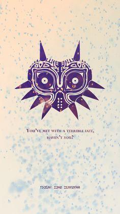 Majora'S mask - created by brett main juegos indies, iphone wallpaper zelda, iphone wallpaper The Legend Of Zelda, Legend Of Zelda Quotes, Link Zelda, Scott Pilgrim, Geeks, Majora Mask, Poster Minimalista, Zelda Tattoo, Zelda Breath