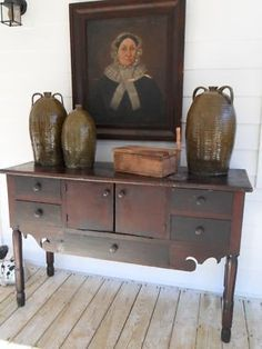 Up for Auction is A Wonderful Early Georgia Southern Hand Made Huntboard Sideboard. This is one of the Best Pieces I have offered for sale! Made in NW Georgia in the Rome area is was made by a Skille