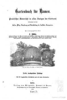 Jühlke (Hg.) 1874 – Gartenbuch für Damen   Enzyklothek