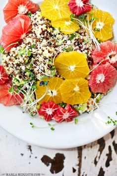 Citrus Quinoa Salad via Family Fresh Cooking #healthy #spring