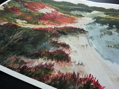 Nature Inspired Gouache Painting, Original Handpainted Artwork, Landscape Painting Of Sand And Beach Nature Paintings, Landscape Paintings, Wall Decor, Wall Art, Gouache Painting, Warm Colors, Original Paintings, Hand Painted, Handmade