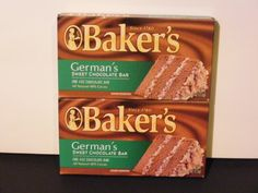 Lot of 2 Bakers 4 oz Sweet Chocolate BarGermans All Natural 48 Cacao >>> See this great product.
