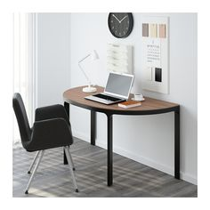 BEKANT Conference table - gray/black - IKEA