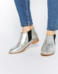 Image 1 of ASOS AIZA Flat Ankle Boots
