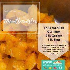 Rezept für Marillenröster Rum, Dairy, Cheese, Food, Interesting Facts, Recipies, Essen, Meals, Rome