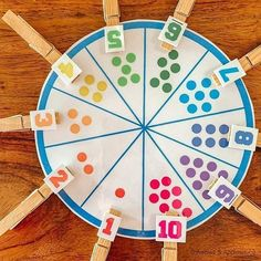 Children will match up the numeral with the correct number of dots. Kids Crafts, Kids Educational Crafts, Preschool Crafts, Science Crafts, Summer Crafts, Educational Websites, Classroom Crafts, Science Classroom, Classroom Ideas