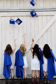 Best Friend Group Graduation Picture : cap and gown, barn, country, friends, tossing cap, cowboy boots, rustic, idea Graduation Picture Poses, Graduation Photoshoot, Grad Pics, Graduation Pictures, Cap And Gown Pictures, Gown Photos, Prom Pictures, Senior Pictures, Senior Pics