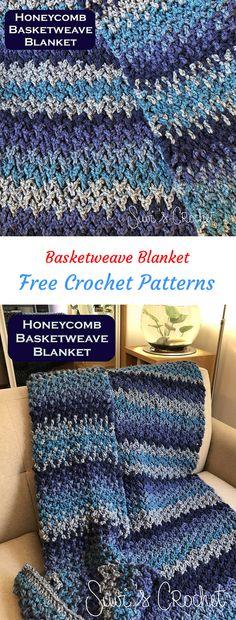 Basketweave Blanket Free Crochet Pattern #crochet #crafts #homedecor #handmade #style