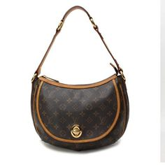 Louis Vuitton Tulum PM Monogram Shoulder bags Brown Canvas M40076