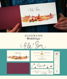 Illustrated Weddings (Ele + Sven) on Behance