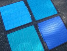 Here are four samples of straight line quilting with a walking foot. .