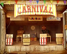 A Carnival themed wedding would ensure so much fun!  via www.vintageamusementco.com