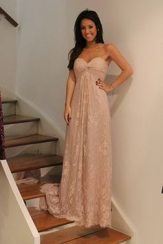 Long lace Gown ~ this is so pretty! The lace idea is gorgeous! Haven't seen any like this <3