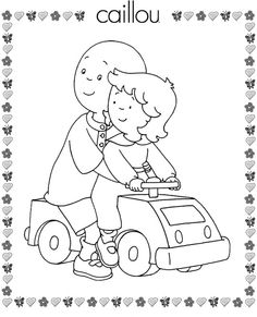 Caillou Coloring Pages 9