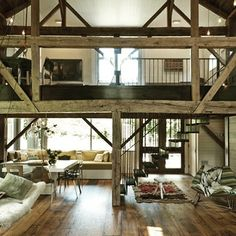 Barn style skywalk. #living #openspace #interior