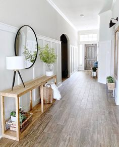 14 Best Entryway Ideas That You Will Want to Copy - Chaylor & Mads - - Get inspired by these gorgeous entryway ideas including entryway furniture, ideas for storage, and arranging your entrytable for that wow factor! Narrow Entryway, Small Entrance, Rustic Entryway, Modern Entryway, House Entrance, Entryway Decor, Entrance Halls, Kitchen Entryway Ideas, Entryway Mirror