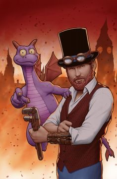 "Dreamfinder flies into ""Figment"" comic #5 with first look at iconic Dreamcatcher vehicle"