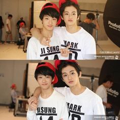 Aww my babies Jisung and Mark predebut Nct 127 Mark, Mark Nct, Lee Min Hyung, Sm Rookies, Jisung Nct, Ji Sung, Winwin, Kpop Groups, Taeyong