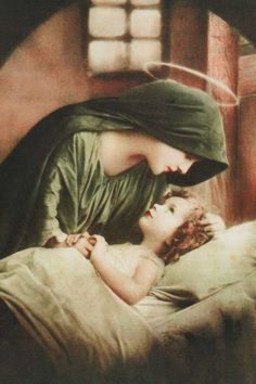 Mother Mary With Her Holy, Precious Baby Boy, Jesus.❤❤❤