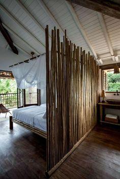 meuble en bambou pas cher pour la chambre à coucher