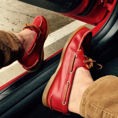 Red BMW & Red Sperry Topsiders
